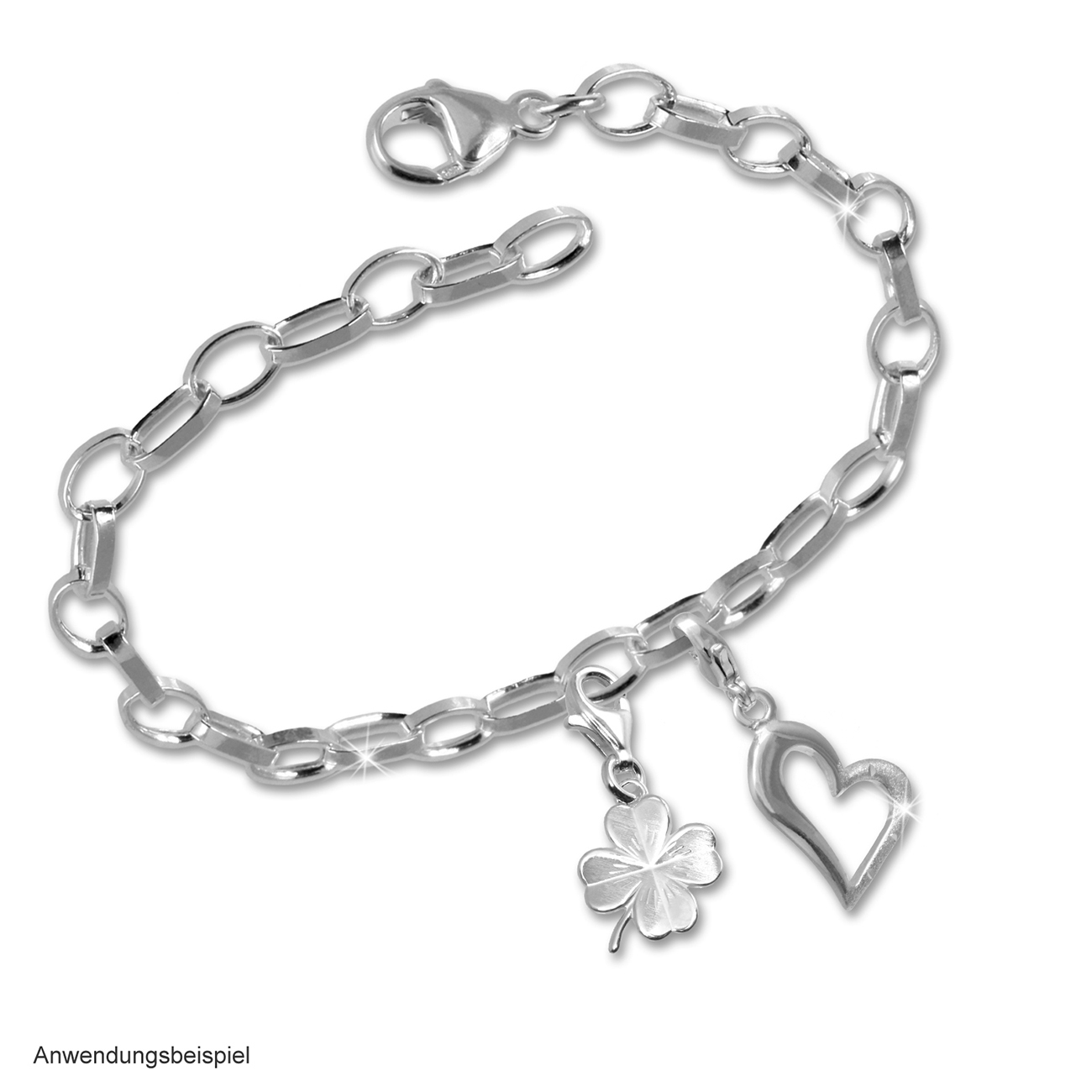 Bild 2 - Bettelarmband Silber Charms Dream