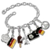 Charms Set in 925 Sterling Silber Weltmeister Anhänger - Silber Dream Charms - FCA041