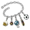 Charms Set in 925 Sterling Silber Fußballfieber Anhänger - Silber Dream Charms - FCA042