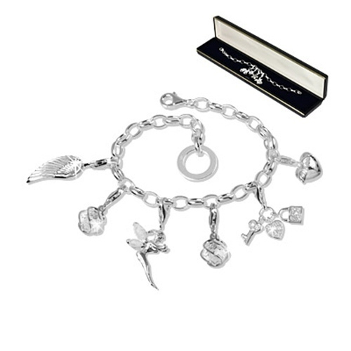 SilberDream Charm Wal 925er Silber Emaille Armband Anhänger hellblau FC827H