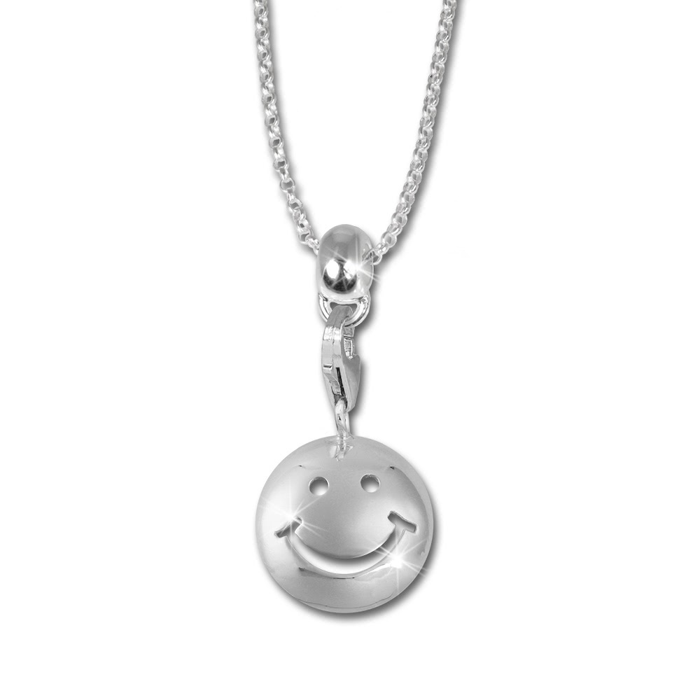 Bild 1 - Halskette Charm Kinder Smiley