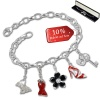 Armband Fashion Charm Set Red High Heels in 925 Sterling Silber Anhänger - Silber Dream Charms - FCA317