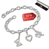 Armband Fashion Charm Set Liebe - Glück in 925 Sterling Silber Anhänger - Silber Dream Charms - FCA319