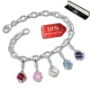 Armband Charms Je taime Kugeln in 925 Sterling Silber Anhänger - Silber Dream Charms - FCA322