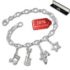 Armband Fashion Charm Set Musik in 925 Sterling Silber Anhänger - Silber Dream Charms - FCA325
