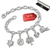 Armband Fashion Charm Set Glücksbringer in 925 Sterling Silber Anhänger - Silber Dream Charms - FCA330