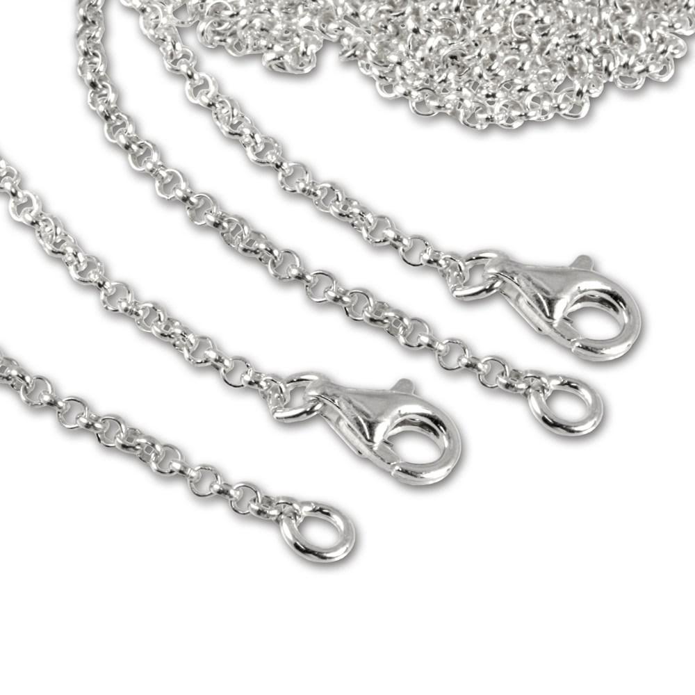 SilberDream Sterling Silber Charm Halskette Set 2x50cm FC00295-2