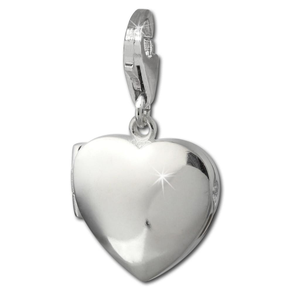 SilberDream 925 Charm Herz Medaillon Armband Anhänger FC3006