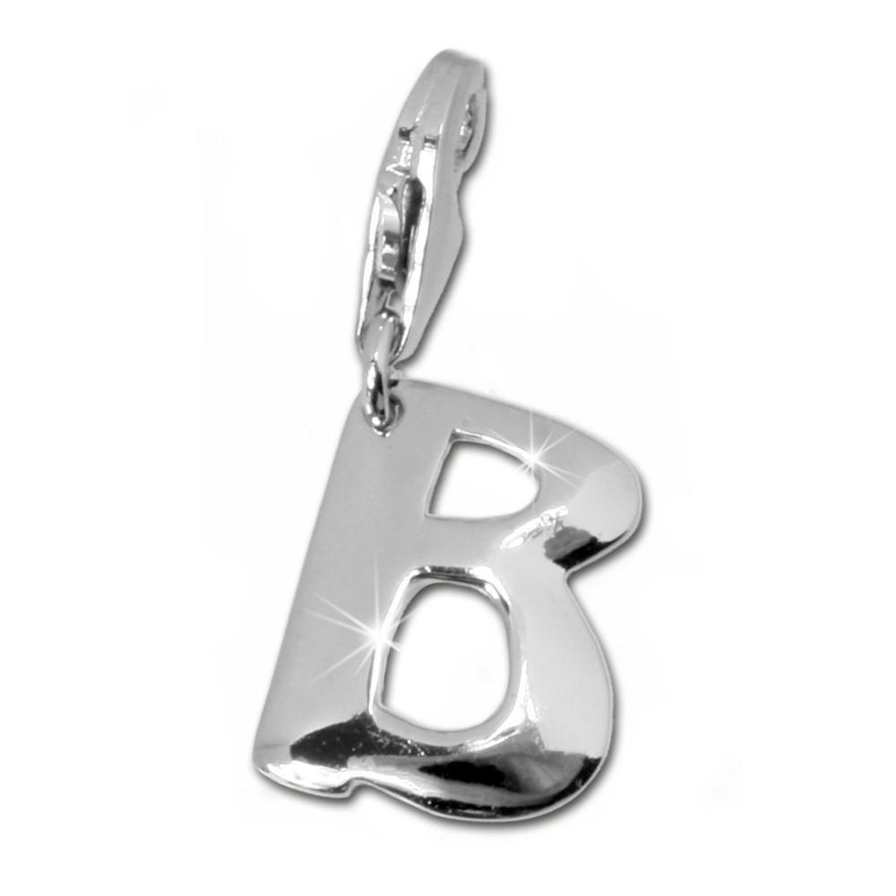 SilberDream 925 Charm Buchstabe B Silber Armband Anhänger FC70B