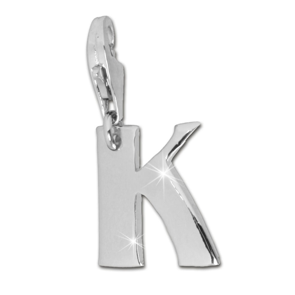 SilberDream 925 Charm Buchstabe K Silber Armband Anhänger FC70K