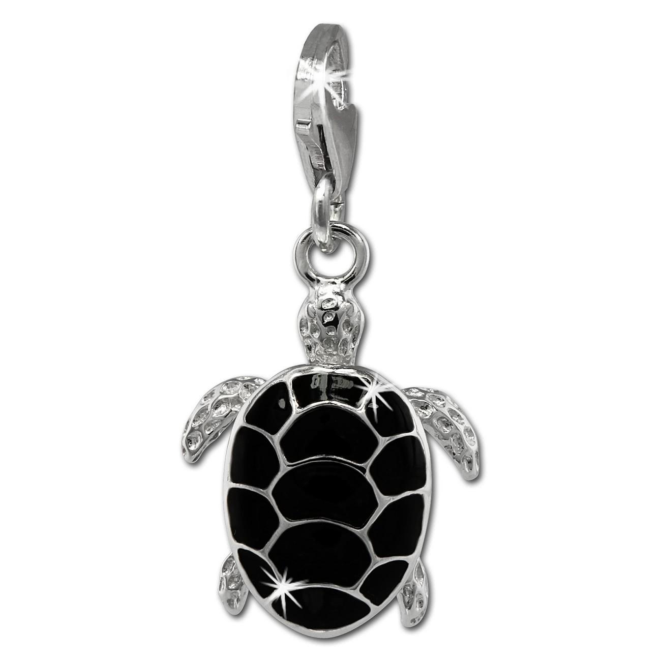 SilberDream Charm Schildkröte 925er Silber Armband Anhänger FC858S