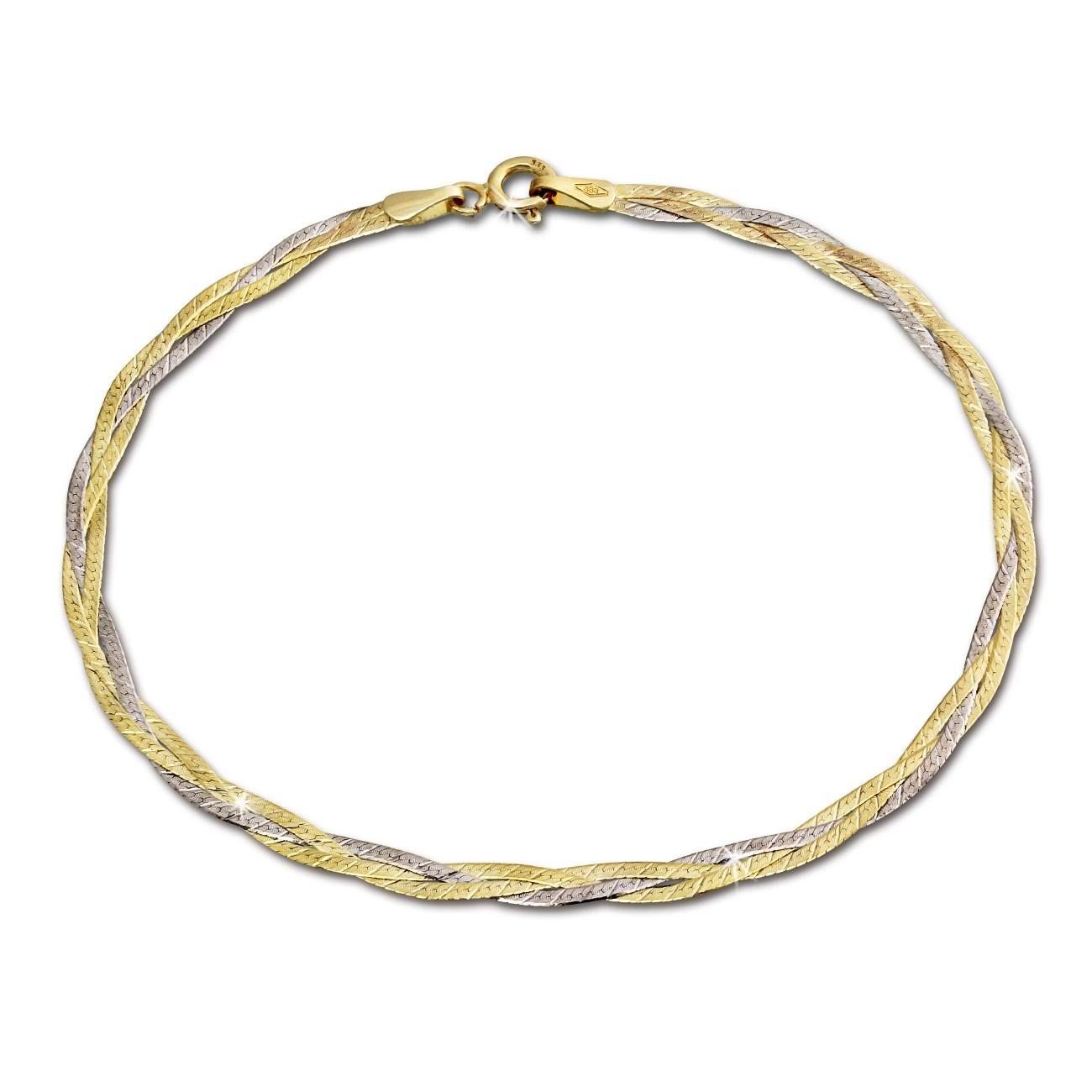 GoldDream Armband Geflochten 333 Gold Damen 19cm 8 Karat GDA0009T