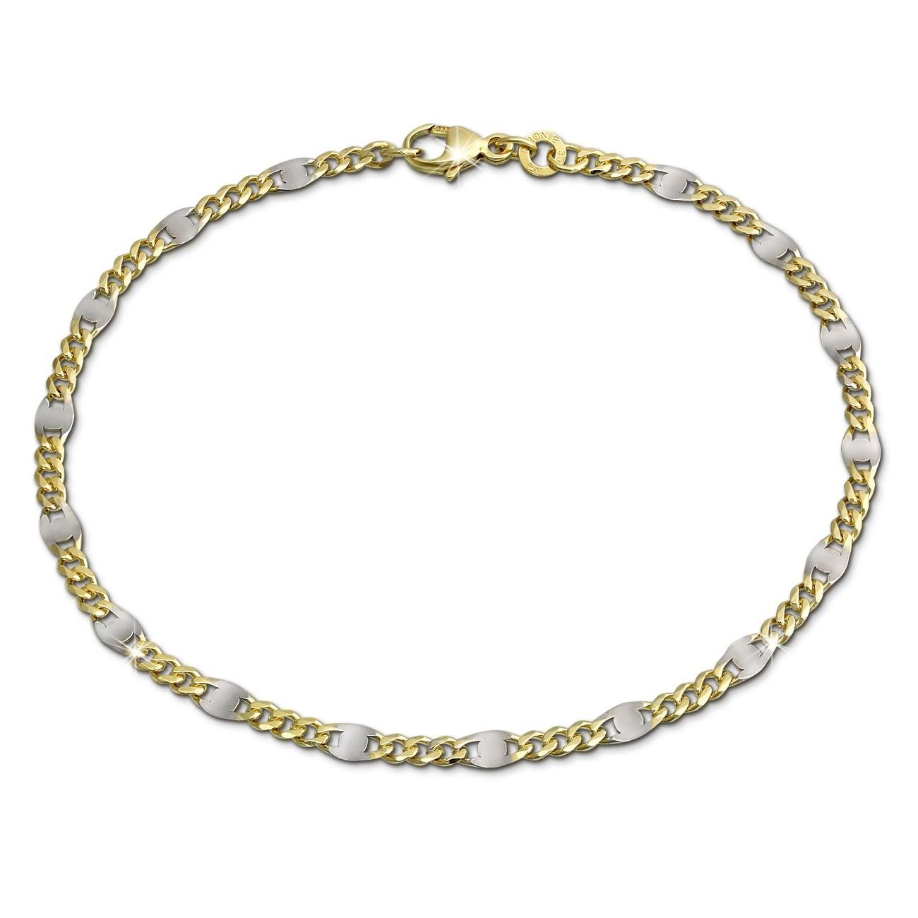 GoldDream Armband Plättchen 333 Gelbgold Damen 19cm 8 Karat GDA0049T
