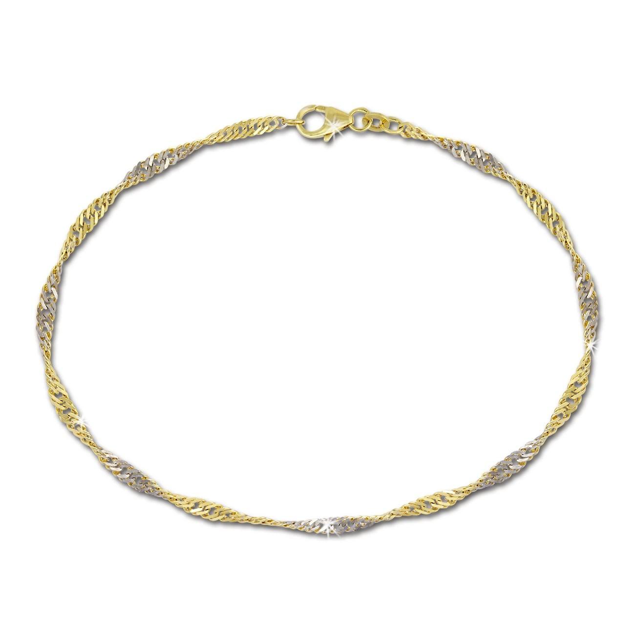 GoldDream Armband Singapur gedreht 333 Gold 19cm 8 Karat GDA0069Y