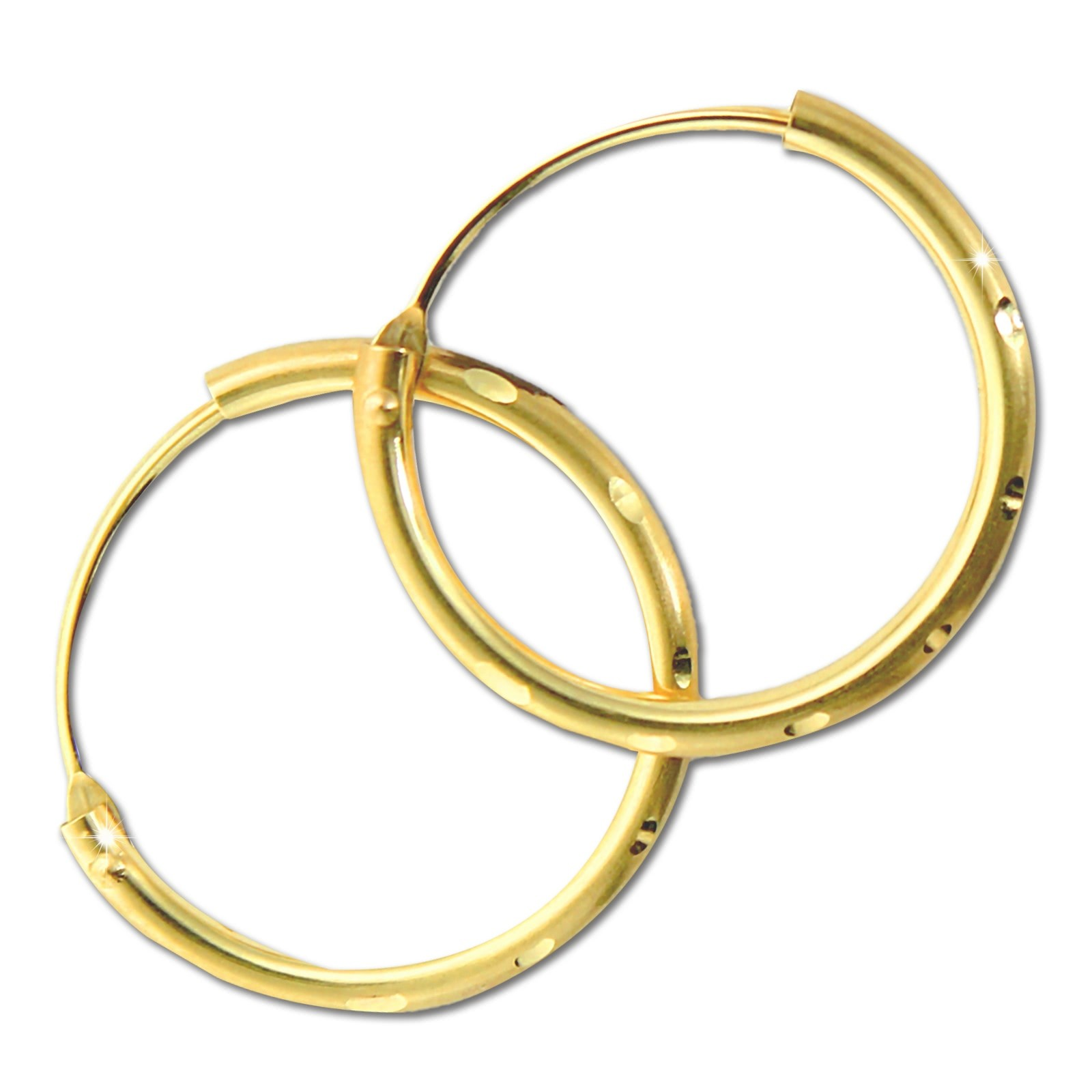 GoldDream Damen Creolen Ohrring 15mm Gelbgold 8 Karat GDOB00215Y