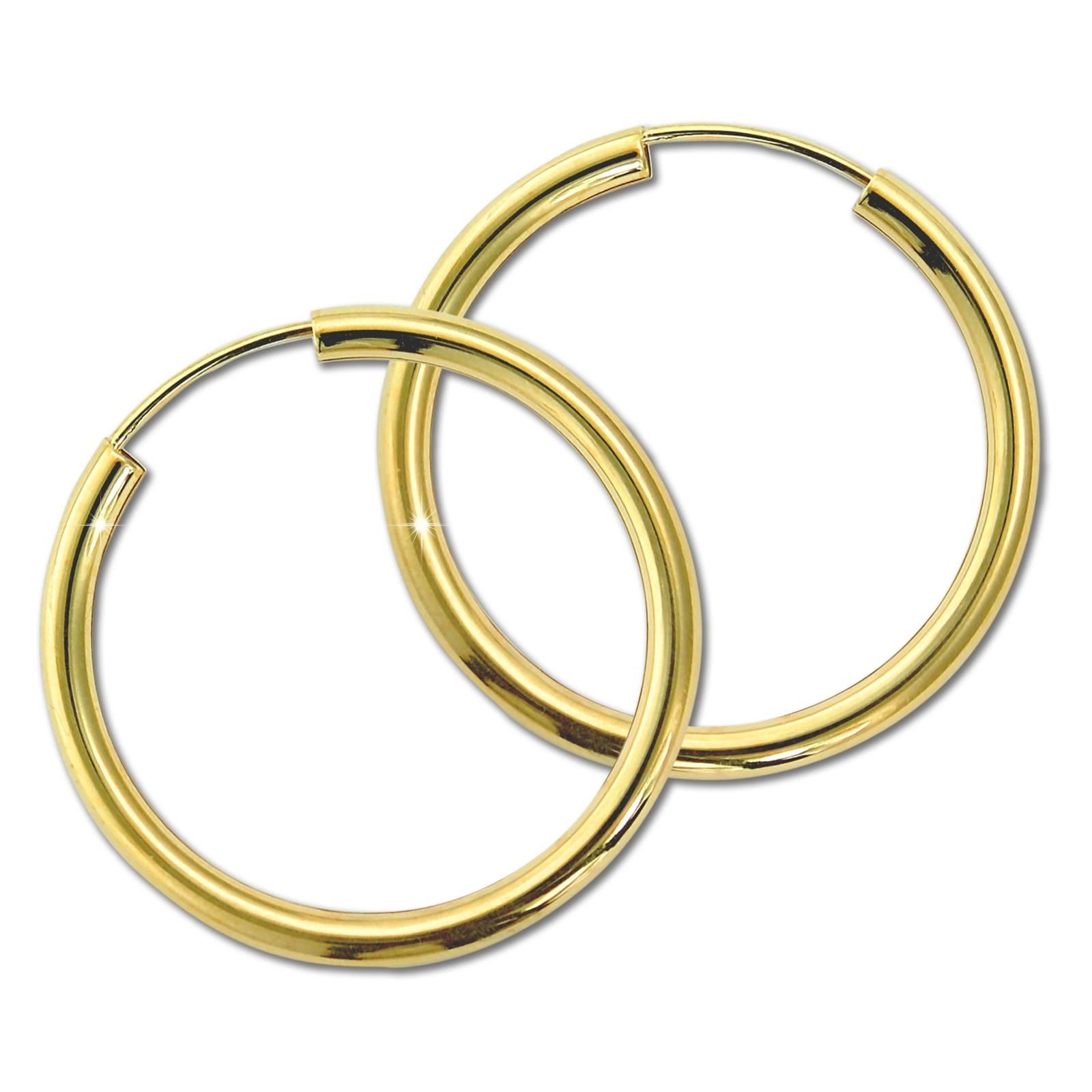 GoldDream Damen Creolen Ohrring 20mm Gelbgold 8 Karat GDOB00320Y