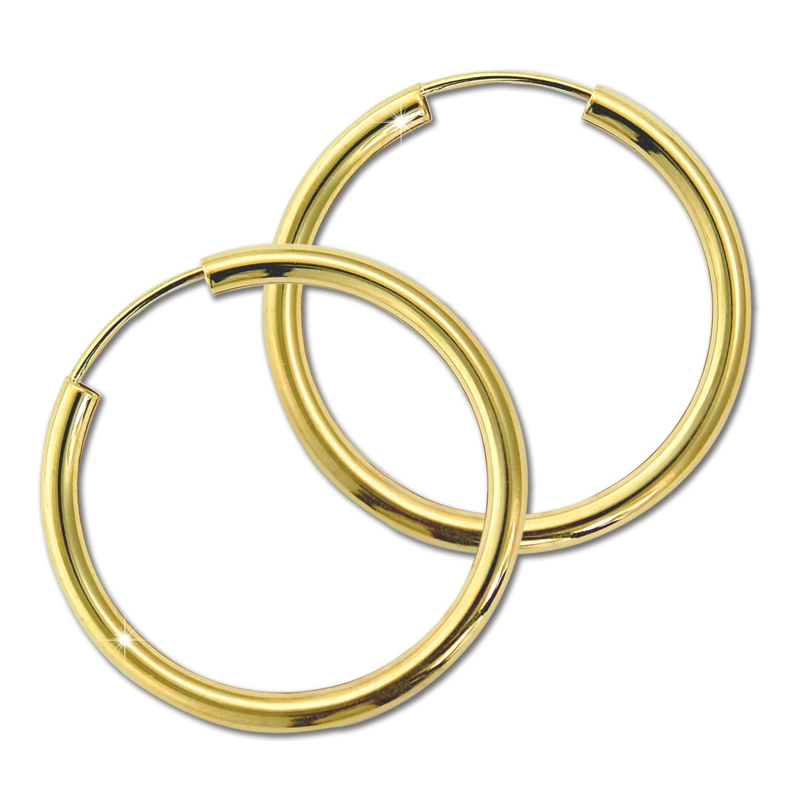 GoldDream Damen Creolen Ohrring 30mm Gelbgold 8 Karat GDOB00330Y