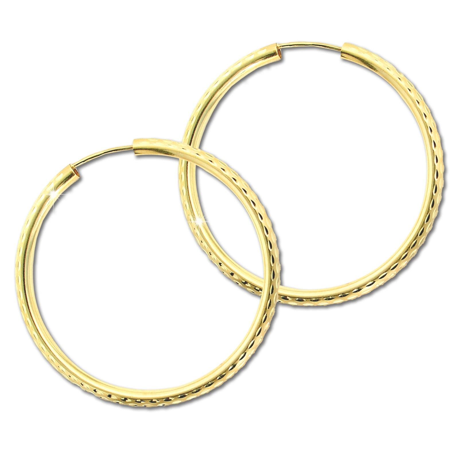GoldDream Damen Creolen Ohrring 30mm Gelbgold 8 Karat GDOB00430Y