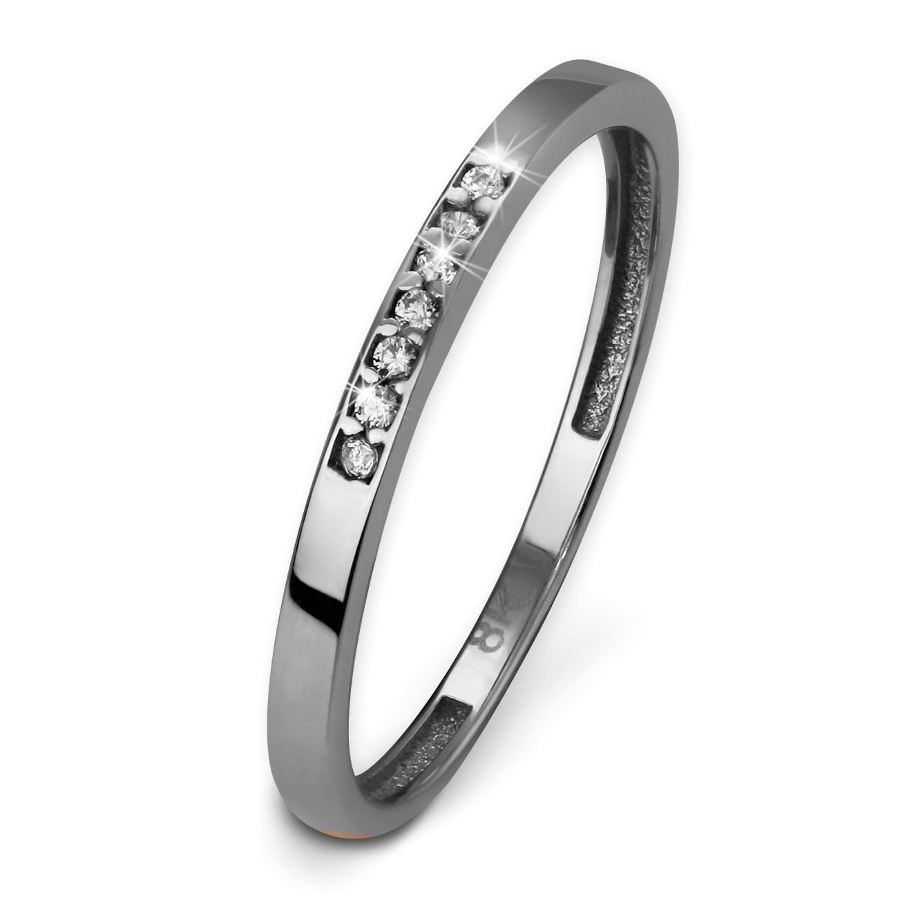 GoldDream Gold Ring Zirkonia weiß Gr.58 333er Weißgold GDR502J58