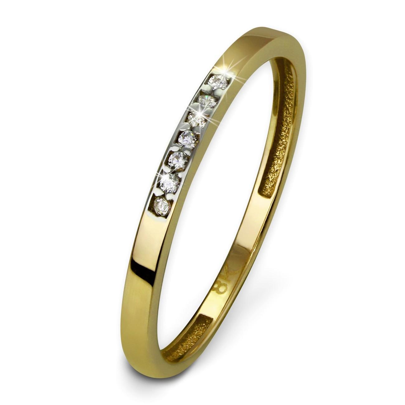 GoldDream Gold Ring Zirkonia weiß Gr.54 333er Gelbgold GDR502Y54
