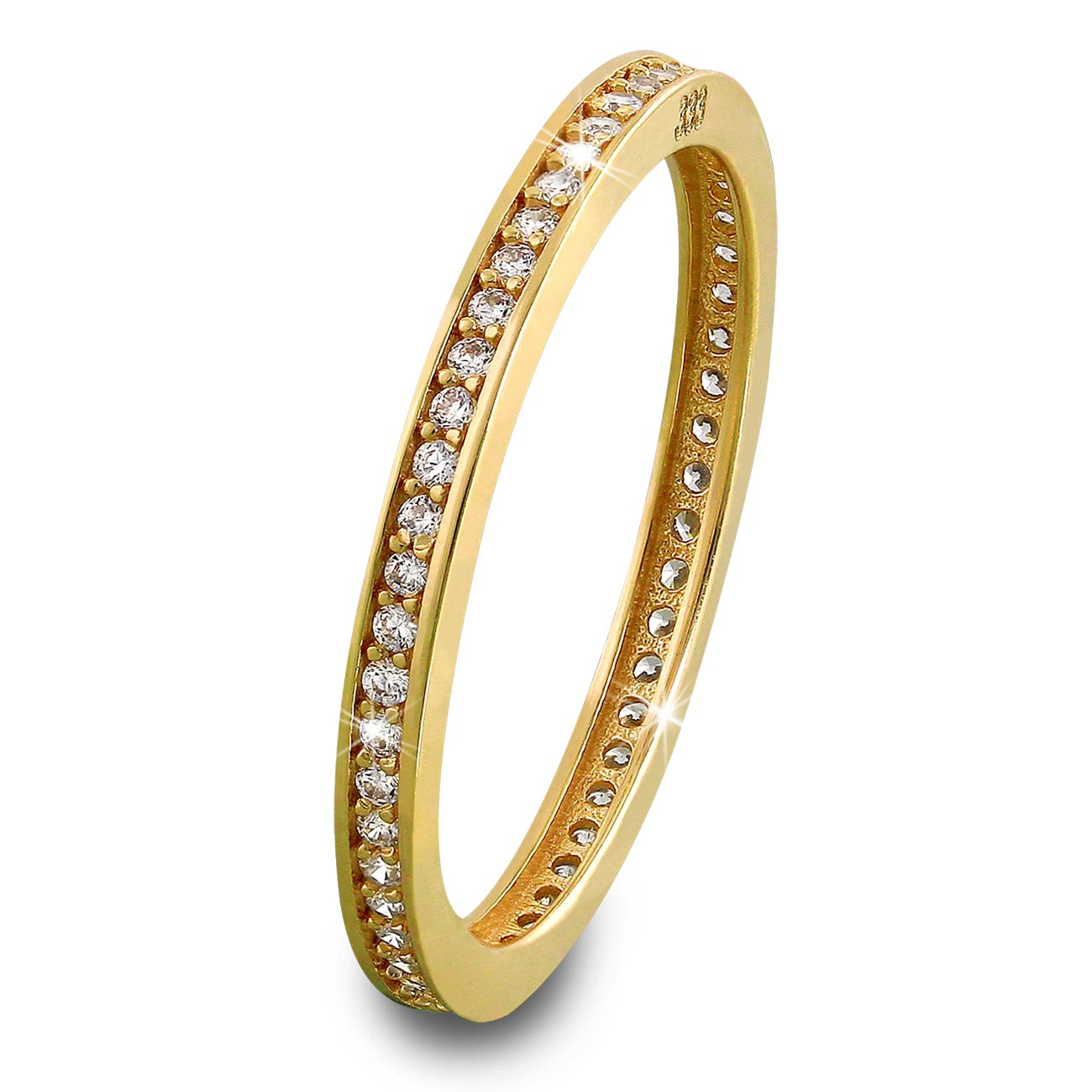 GoldDream Gold Ring Zirkonia weiß Gr.58 333er Gelbgold GDR504Y58