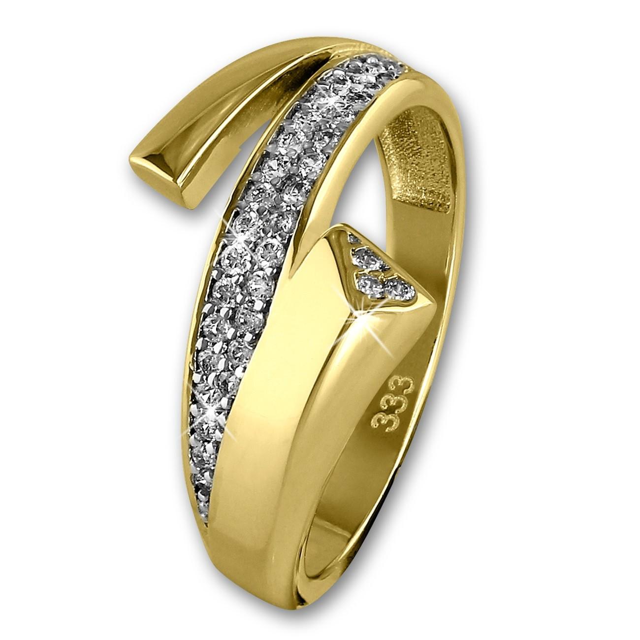 GoldDream Gold Ring Glamour Zirkonia weiß Gr.54 333er Gelbgold GDR513Y54