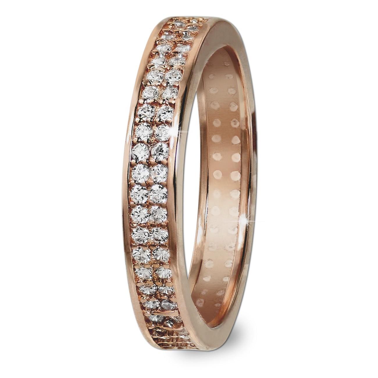 GoldDream Gold Ring Gr.58 Zirkonia weiß 333er Rosegold GDR514E58