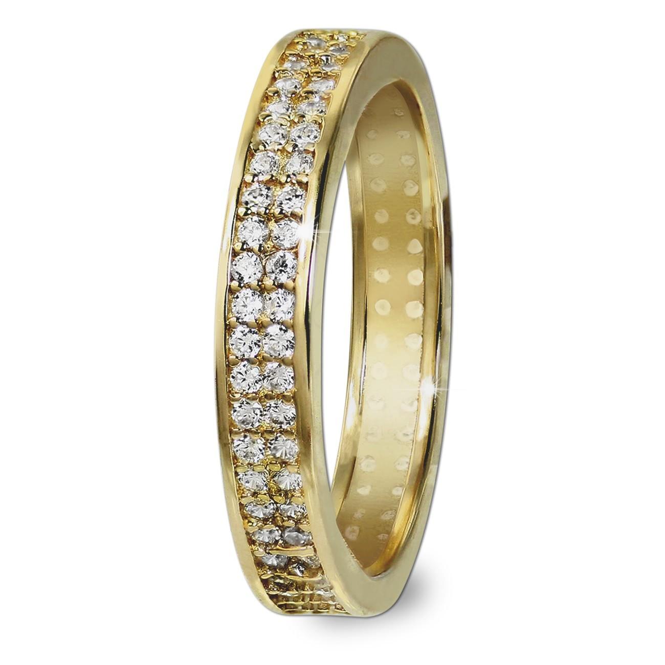 GoldDream Gold Ring Gr.60 Zirkonia weiß 333er Gelbgold GDR514Y60