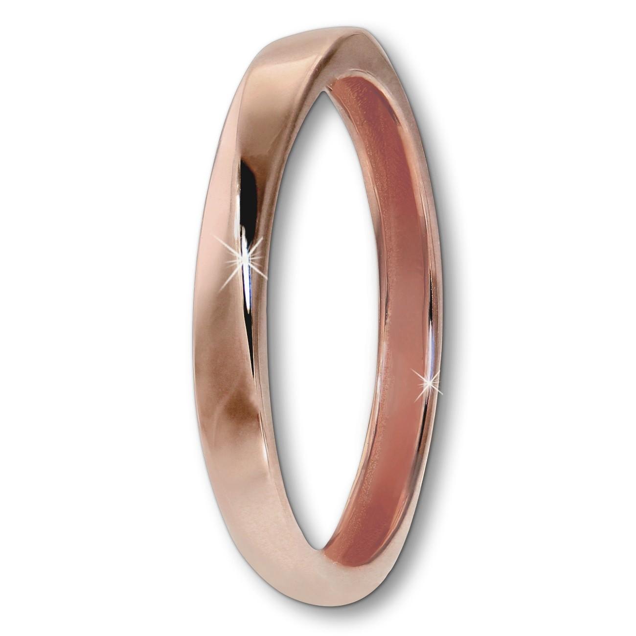 GoldDream Gold Ring Gr.54 Twist 333er Rosegold GDR522E54