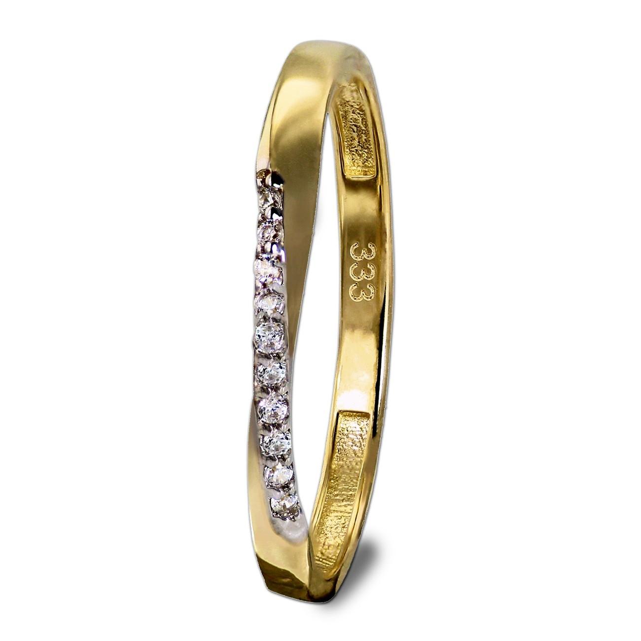 GoldDream Gold Ring Gr.56 Swing Zirkonia weiß 333er Gelbgold GDR523Y56