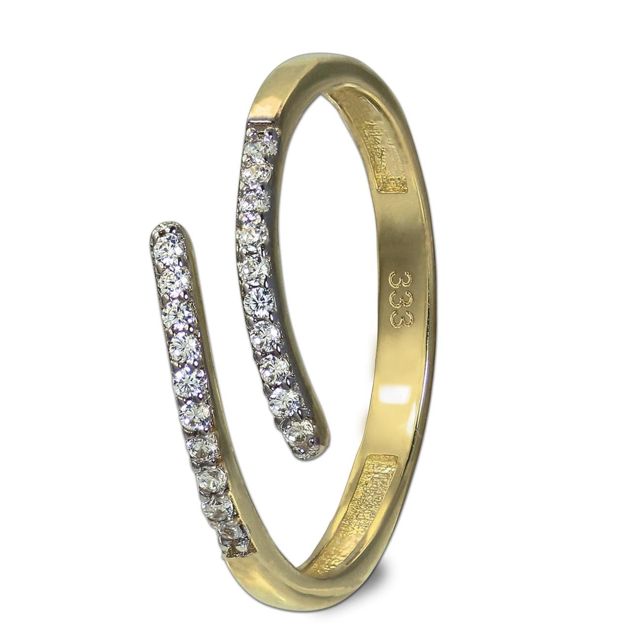 GoldDream Gold Ring Gr.58 Line Zirkonia weiß 333er Gelbgold GDR524Y58
