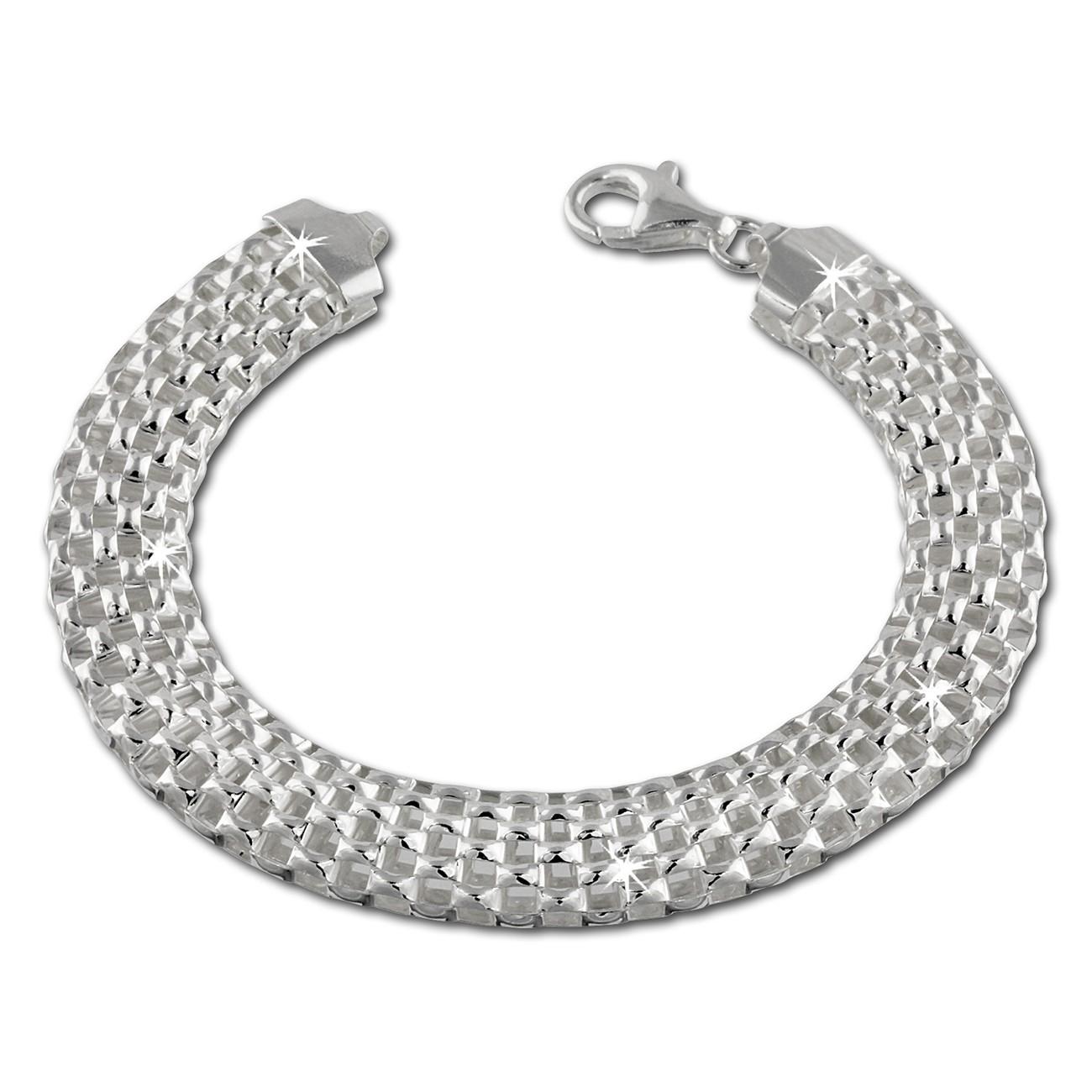 SilberDream Armband Geflecht 925 Sterling Silber Damen 20cm SDA2010J