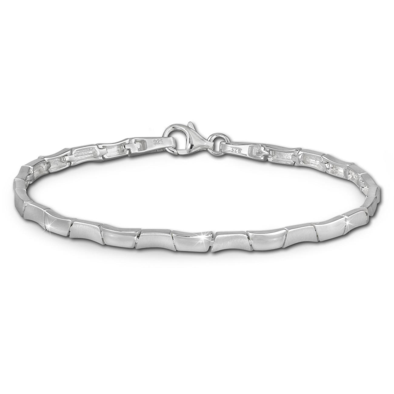 SilberDream Armband Design matt/glänzend 925 Sterling Silber 19cm SDA427