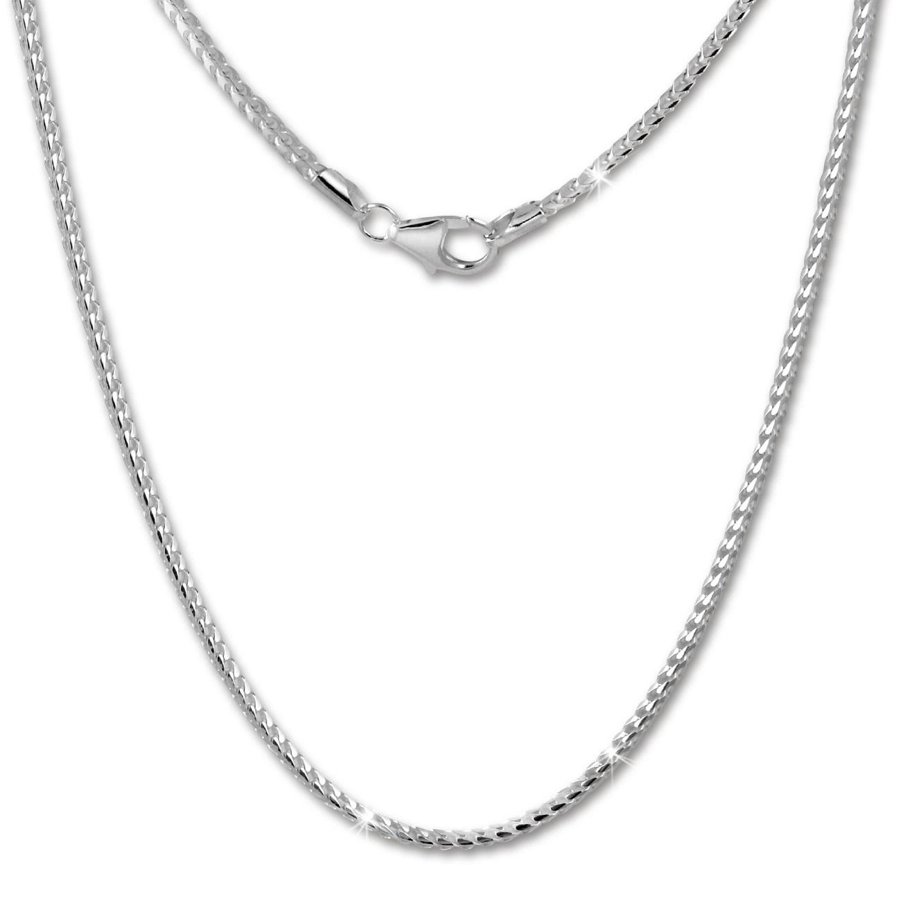 SilberDream Bingokette 925er Silber Halskette 70cm Kette SDK20470