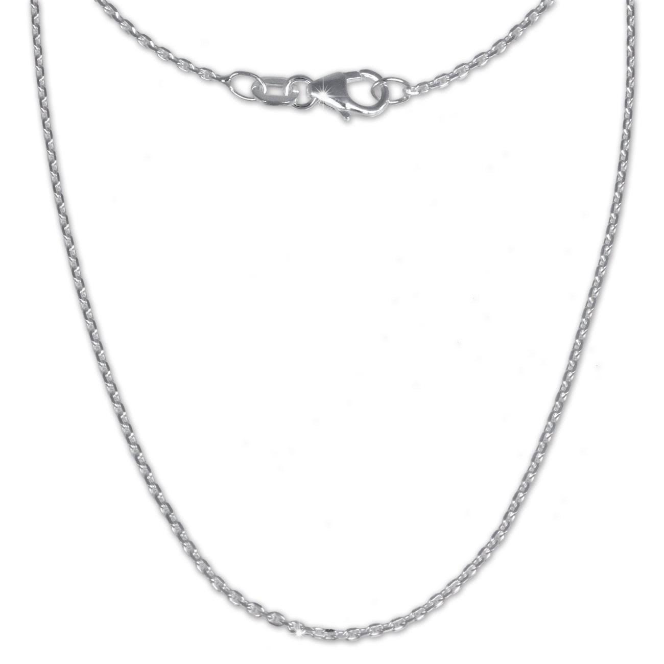 SilberDream Ankerkette fein 925er Silber Halskette 45cm Kette SDK21145