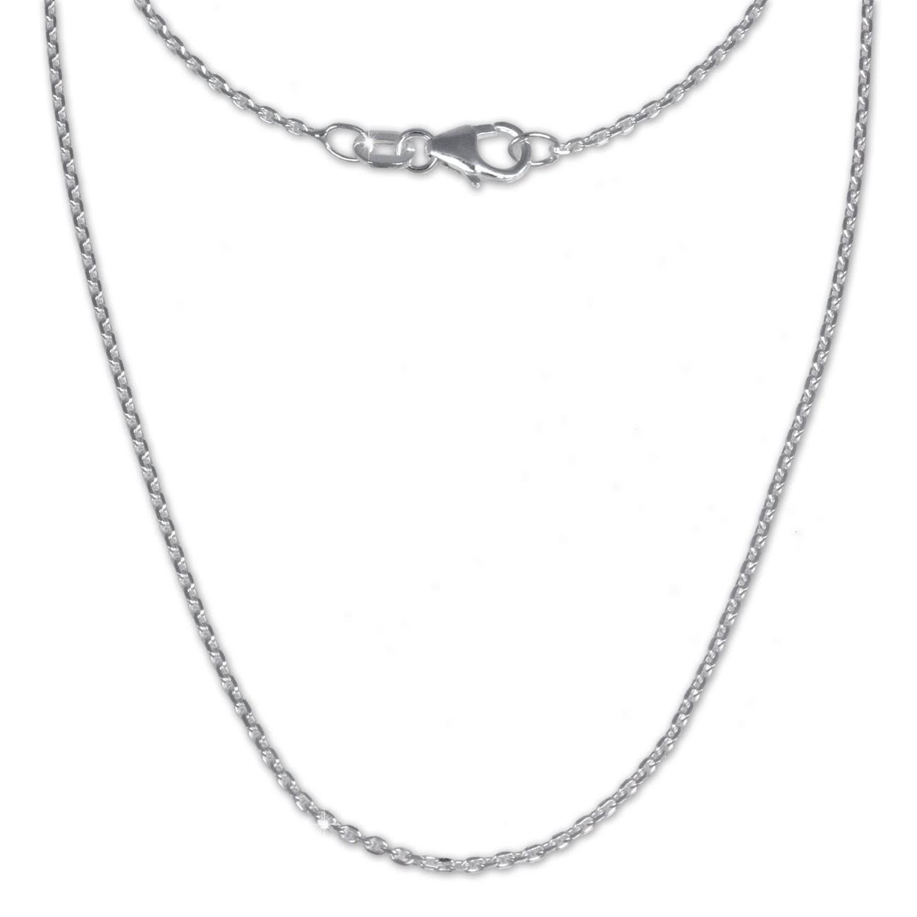 SilberDream Ankerkette fein 925er Silber Halskette 80cm Kette SDK21180
