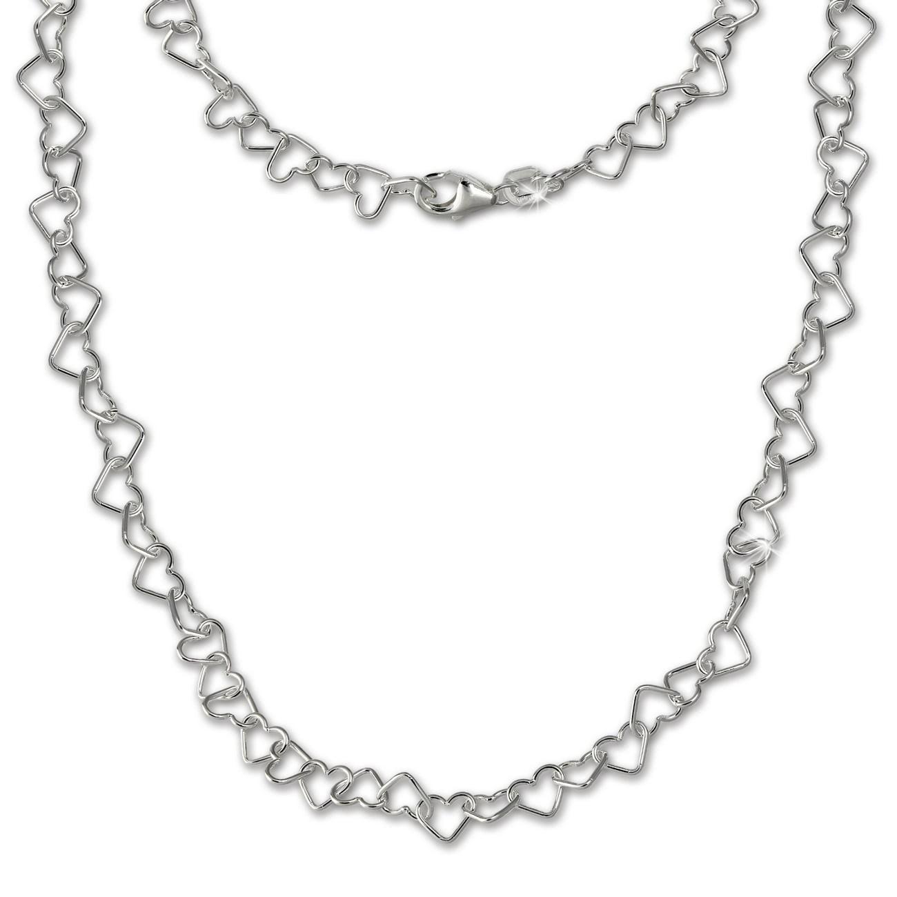 SilberDream Damen Kette Herzchen 925er Silber 45cm Damen Halskette SDK27545J