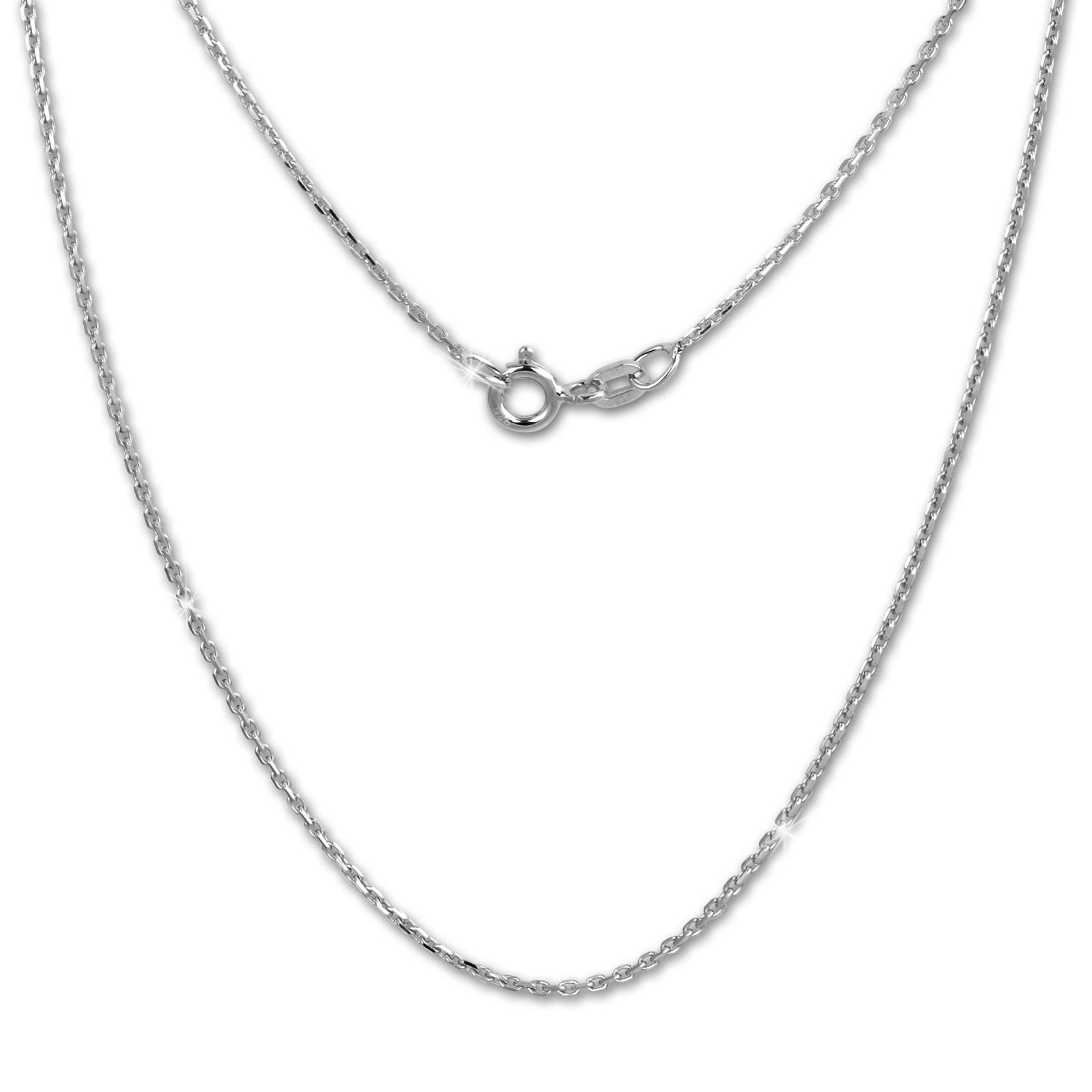 SilberDream Kette Anker diamantiert 925er Silber 42cm Damen Halskette SDK28942J