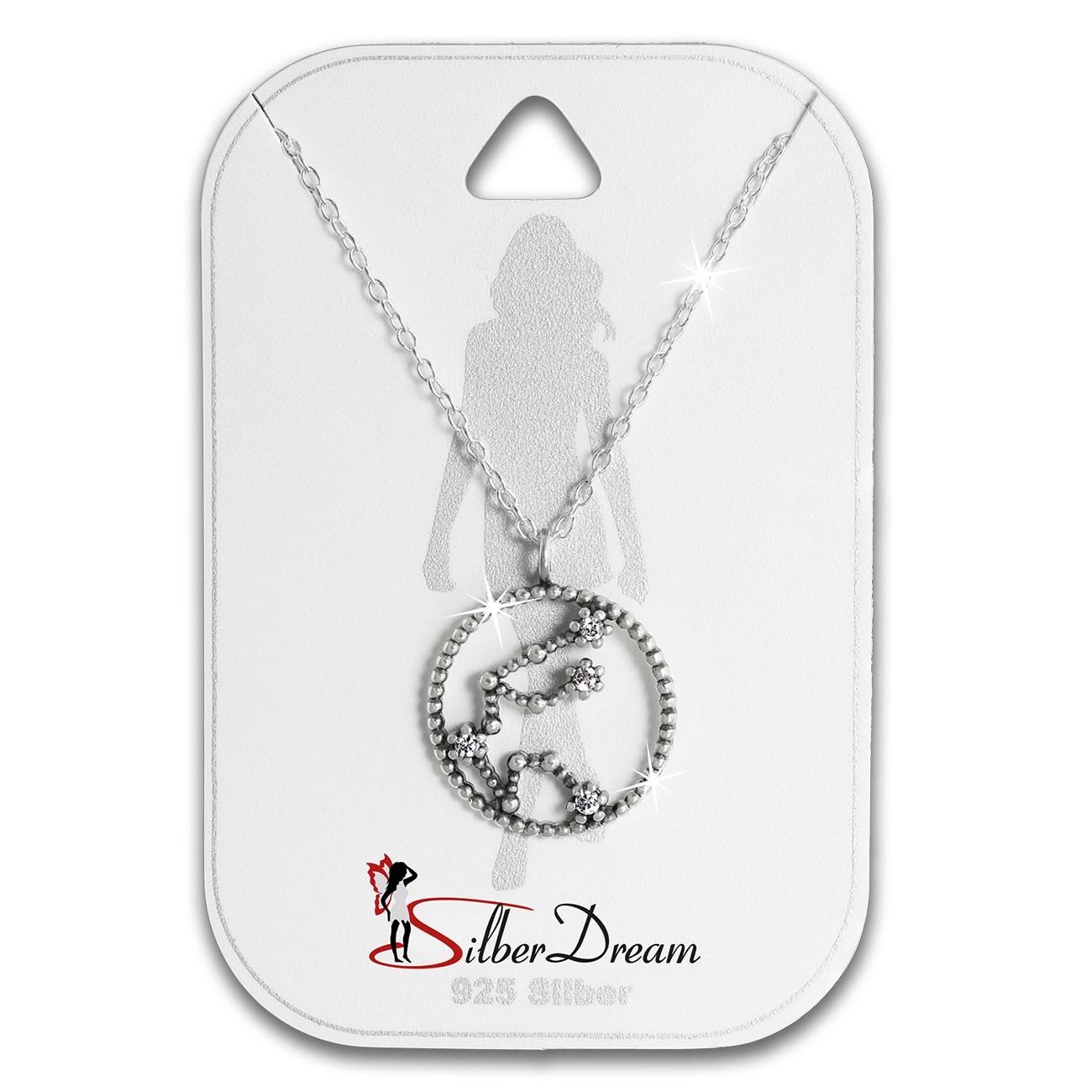SilberDream Halskette Sternzeichen Wassermann 925er 45cm Damen Kette SDK8502W