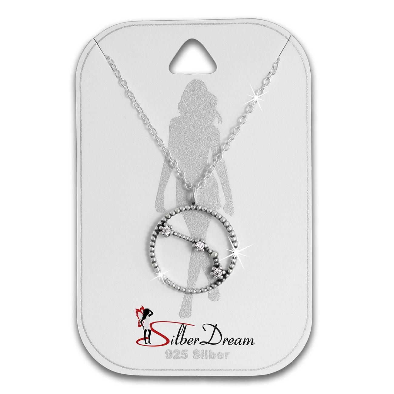 SilberDream Halskette Sternzeichen Widder 925 Silber 45cm Damen Kette SDK8504W
