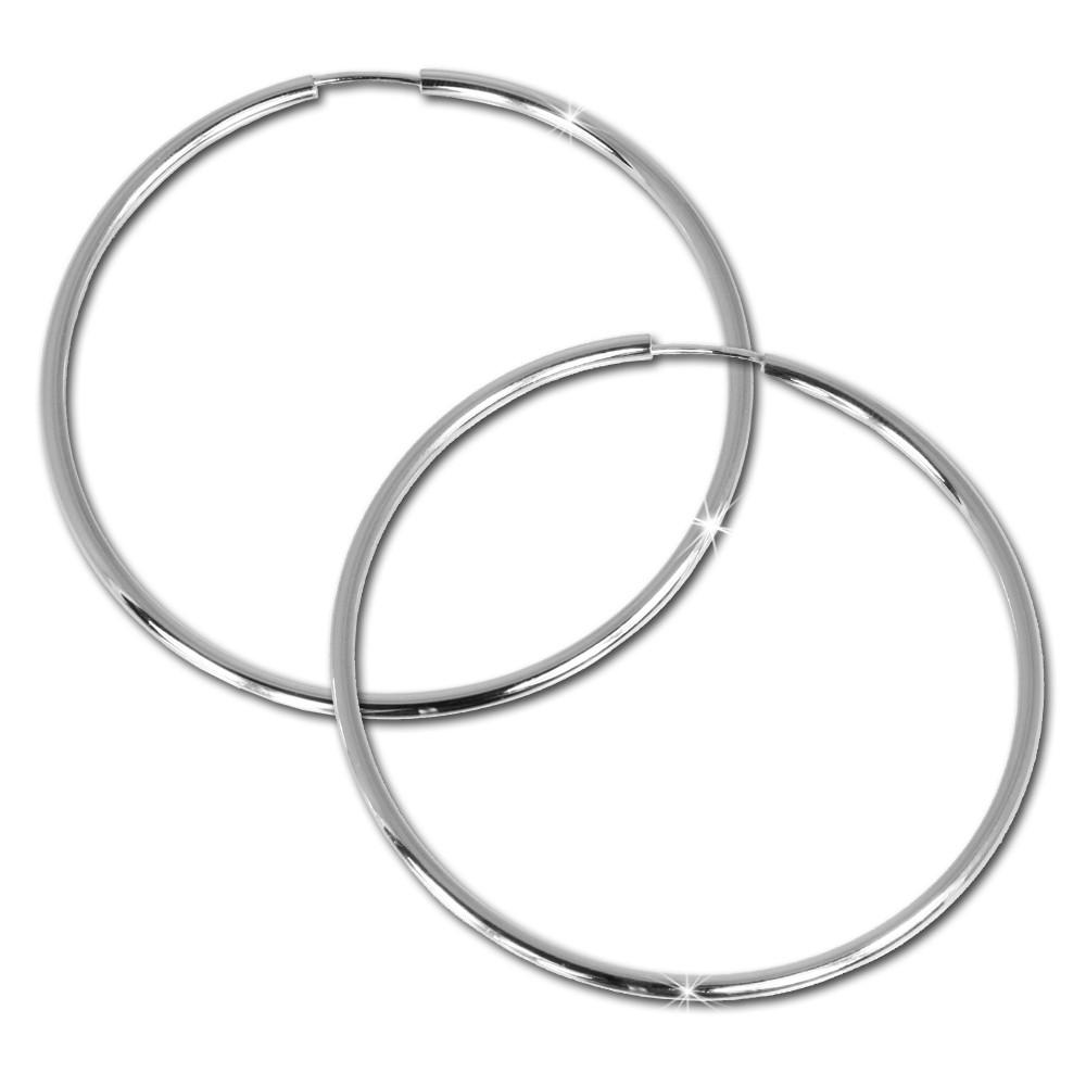 SilberDream Creole Simply 60mm Ohrring 925 Silber Echtschmuck SDO072