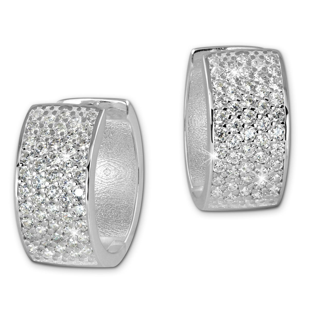 SilberDream Creole 5-reihig Zirkonia weiß 925 Sterling Silber Damen SDO4271W