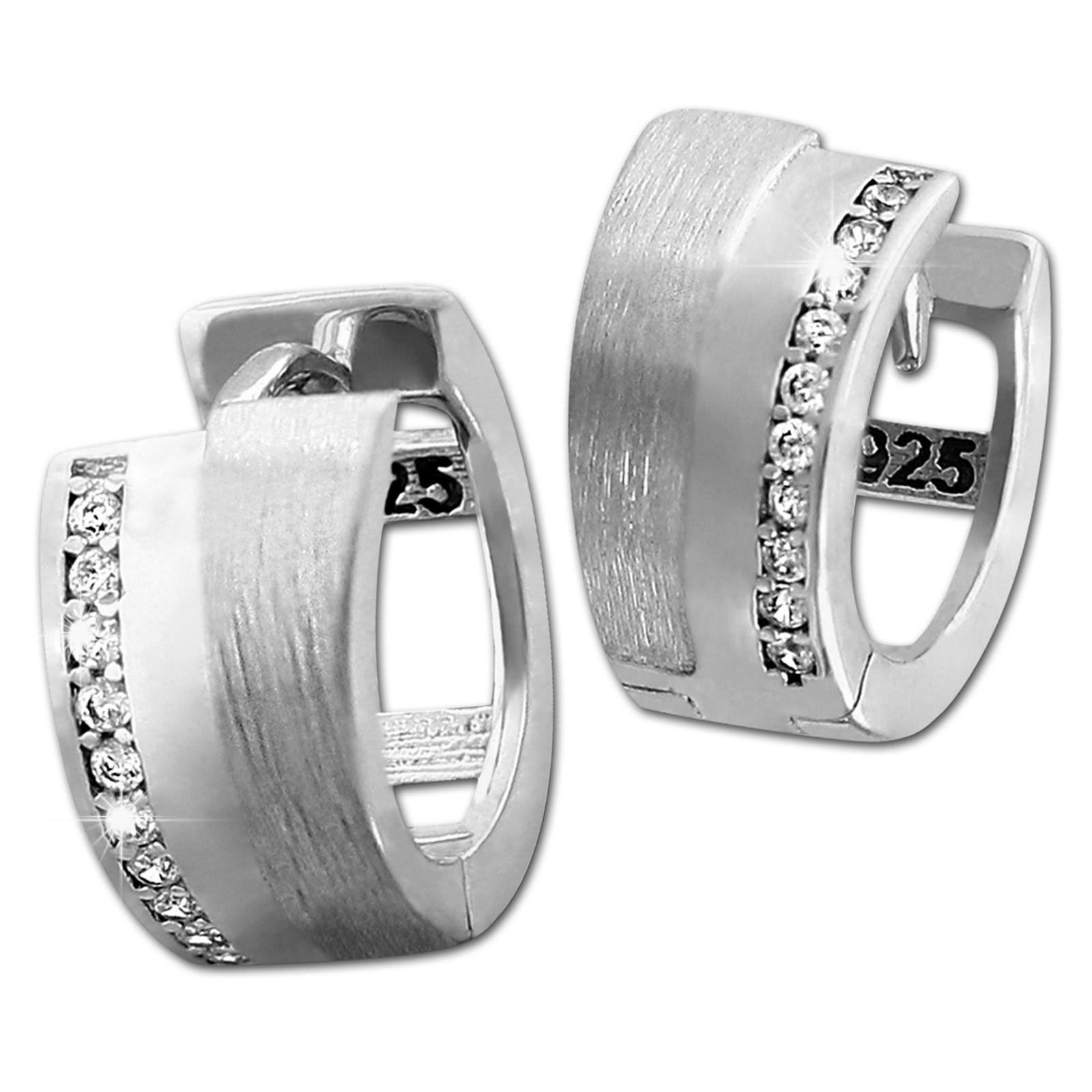 SilberDream Creole Line Zirkonia weiß 925 Sterling Silber Damen SDO4306W