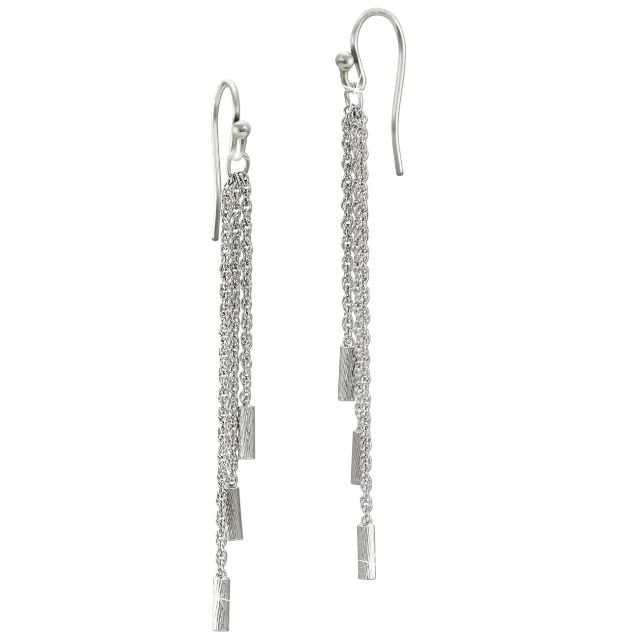 SilberDream Ohrhänger 3er Kettchen 925 Sterling Silber Damen Ohrringe SDO6706J