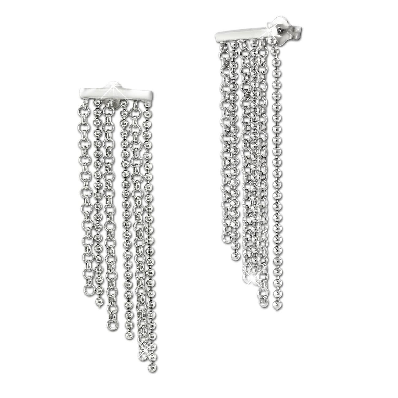 SilberDream Ohrstecker 6er Kettchen glänzend 925 Silber Damen SDO6711J