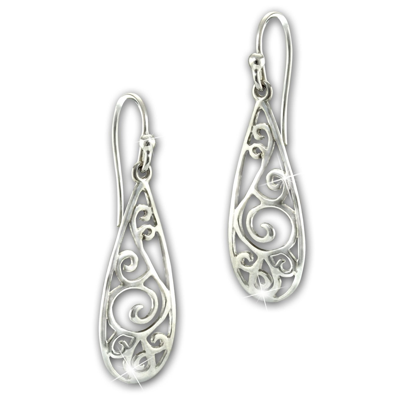 SilberDream Ohrhänger Ornament 925 Sterling Silber Damen Ohrringe SDO6718J