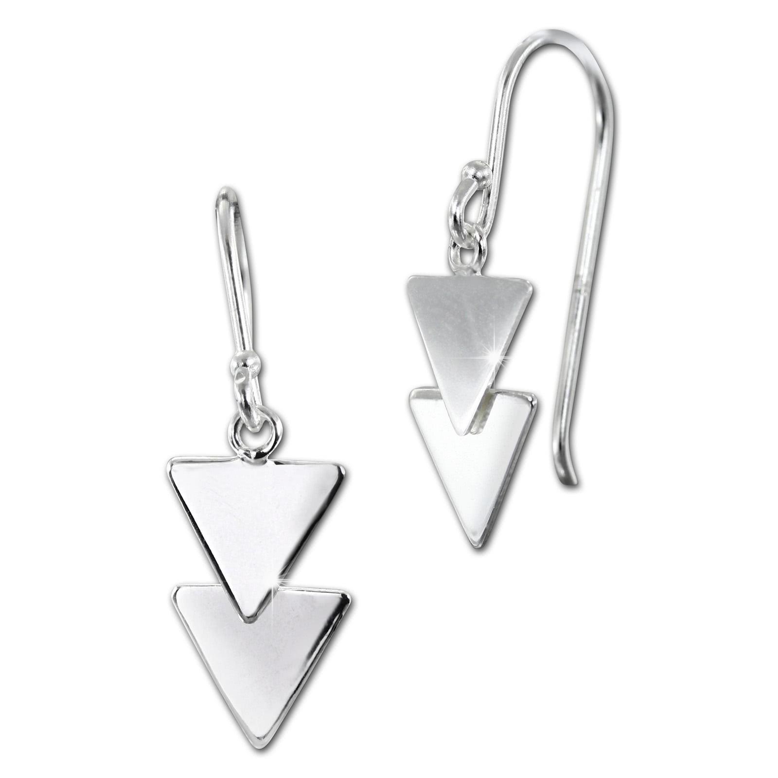 SilberDream Ohrhänger Dreiecke 925er Sterling Silber Damen Ohrring SDO8809J
