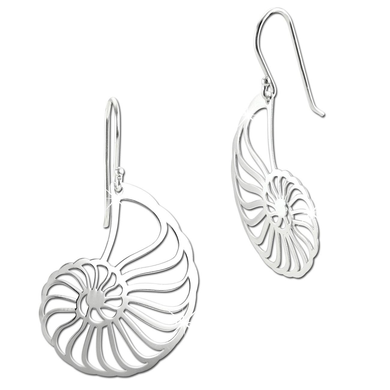 SilberDream Ohrringe Nautilus Muschel 925er Silber Damen Ohrhänger SDO8818J
