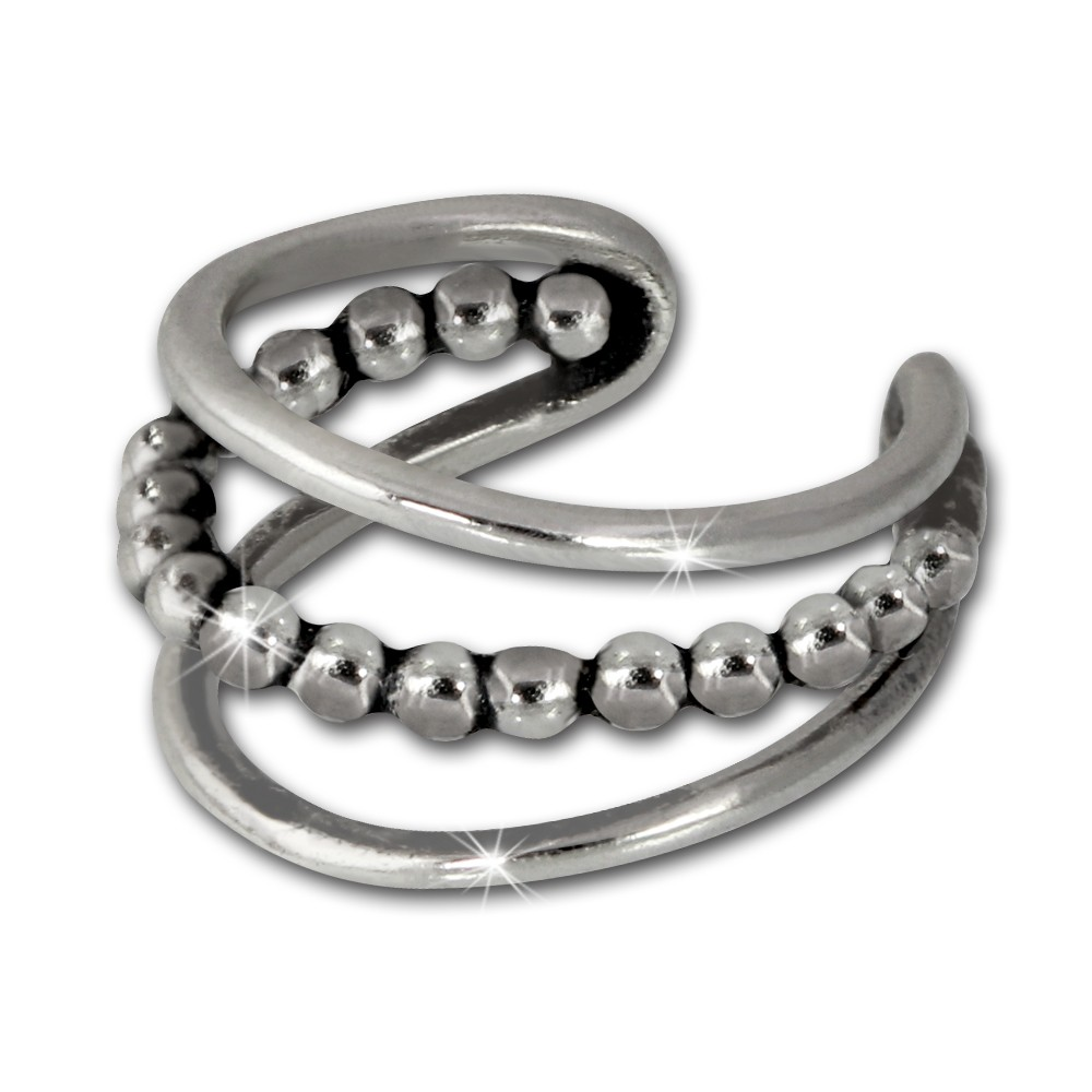 SilberDream Ohrklemme Antik Ear Cuff 925 Sterling Silber Fake Piercing SDO8874J