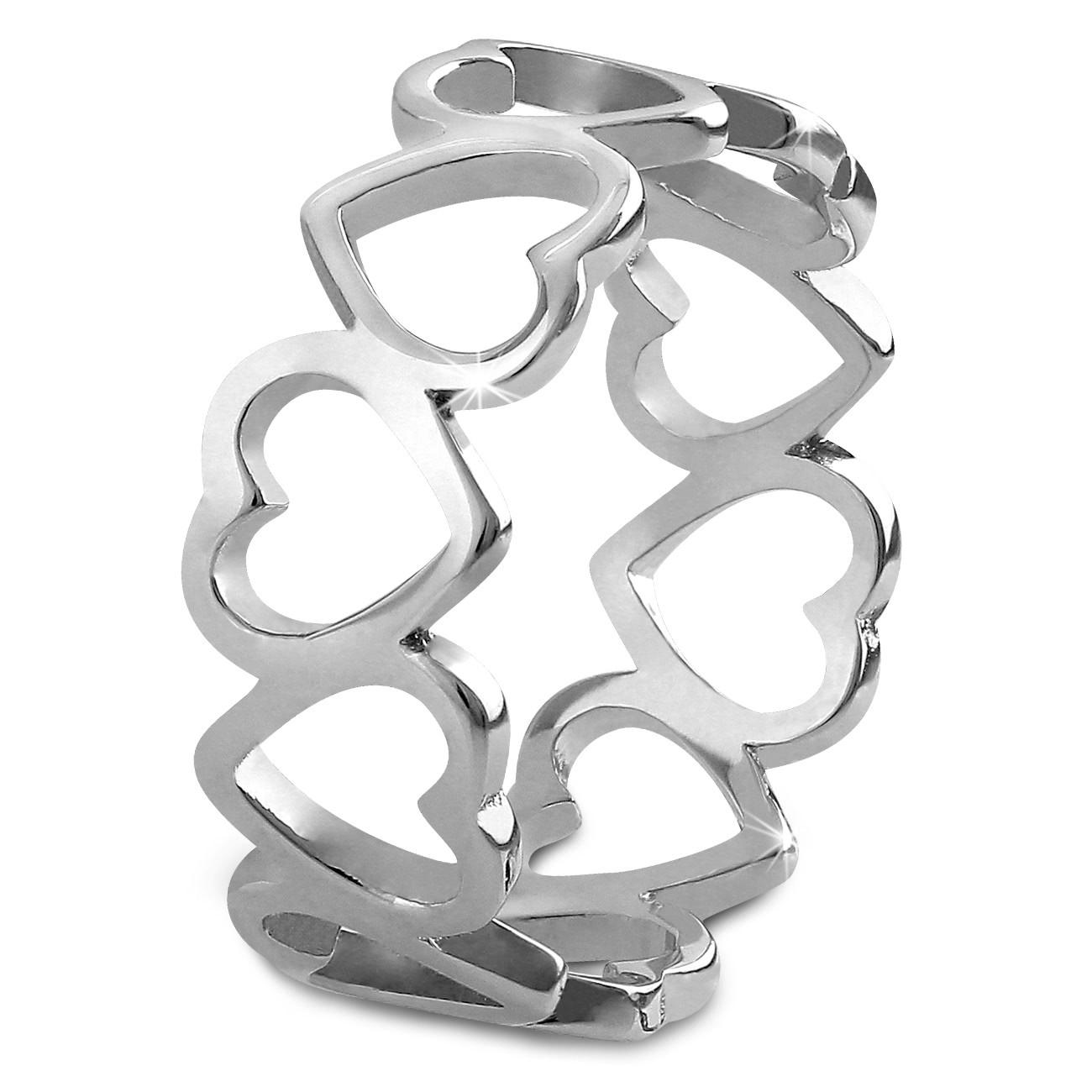 SilberDream Ring Herzen Gr. 56 Sterling 925er Silber SDR400J56